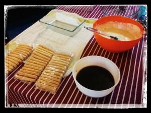 2. Preparación y colocación de ingredientes
