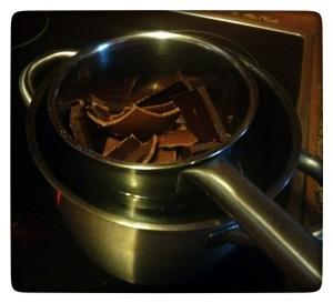 Chocolate a baño maria - cioccolato a bagnomaria