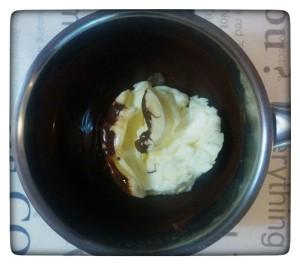5. Juntar la mantequilla al chocolate - aggiungere il burro al cioccolato