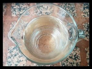 1. Hojas de gelatina idratandose - fogli di colla di pesce idratandosi