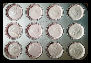10. Cupcakes antes de hornearlos - cupcakes  prima di infornarli