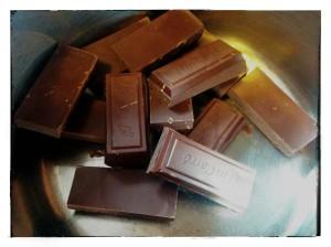 4. Fundir el chocolate - sciogliere il cioccolato