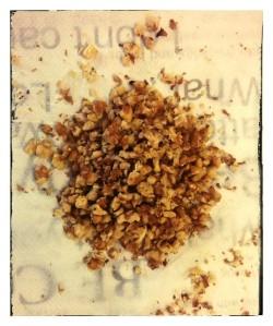 3. Nueces picadas - noci schiacciate
