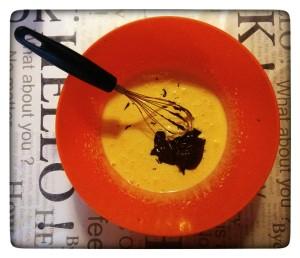 7. Añadir chocolate - Aggiungere il cioccolato