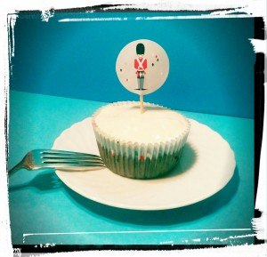 Cupcake de platano y harina de avena - Cupcake alla banana con farina d'avena