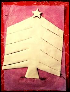 6. Cortar las laminas en forma de un árbol - tagliare dando la forma di un albero